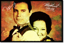 FREDDIE MERCURY AND MONTSERRAT CABALLE  ART PHOTO POSTER GIFT