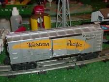 LIONEL  POSTWAR 3474 WESTERN PACIFIC OPERATING BOX CAR ALL ORIG WORKS WELL