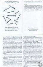 100 Religion Tracts! At Cost! Free Shipping! Christian Gospel Tracts!