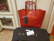 nwt GUCCI women's designer orange LEATHER  tote bag...made in ITALY