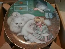 "Country kittens ""captive audience"" collector plate mint 3083b in box 0047"