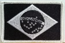 BRAZIL Flag Patch With VELCRO® Brand Fastener Military Police B & W Emblem #3