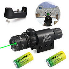 Rifle Pro Remote Switch Green Laser Dot Scope Sight Flyg+2x16340 Battery*Charger