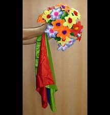 GIANT FLOWER BOUQUET FROM 3 SILKS APPEARING FLOWERS PRODUCTION SILK MAGIC TRICK