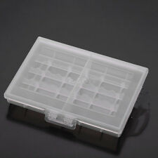 Useful 1x Hard Plastic Battery Case Box Holder Storage for 10 AA/AAA Batteries S