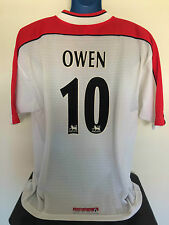 Liverpool fc owen 98/99 away football shirt (l) soccer jersey