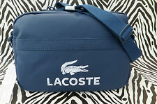 LACOSTE Body Bag NH0323 CLASSIC Shoulder Est Blue Coated Cotton Bags BNWT RRP£80
