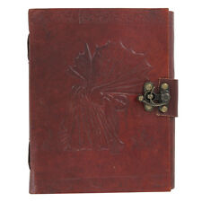 Fate Fairy Picking Flowers Handmade Locking Genuine Leather Spell Book Journal