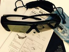 Samsung 3D TV Glasses SSG-2100AB,with Pouch,Battery,Slightly Use No Retail Pack