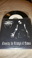 "Darkthrone Crossing the traiangle of flames VINYL 7"" EP mayhem marduk immortal"