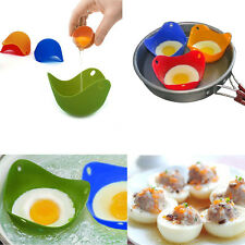 4Pcs Silicone Egg Poacher Cook Poach Pods Poached Baking Cup Kitchen Cookware