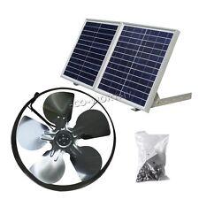 Solar Powered 25W Attic Ventilation Gable Roof Vent Fan w/ 30W Folding Panel RV