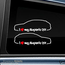 (676) 2x Fun Sticker Aufkleber /  I Love my Skoda Superb 3T Stickerbomb Kombi