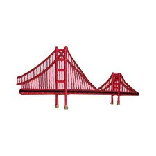 ID 3070 Golden Gate Bridge California Travel Embroidered Iron On Applique Patch