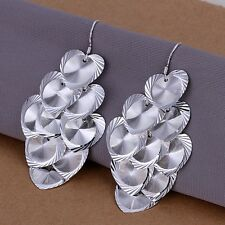 925 Sterling Silver Drop Dangle Chandelier Hook Earrings L16