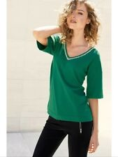 """Bnwt """" Next """" Size 6 Green Embellished V-Neck Ladies Sweater Evening Day New"""