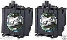 2x PANASONIC PT-D5700L, PT-DF5700, PT-DW5700E Lamp with OEM Ushio bulb inside