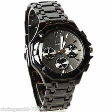New Stylish Sober Wrist Watch for Men Black Dial - SMCONFBLA - FB