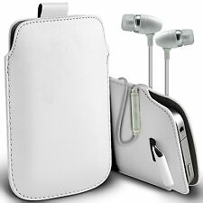 PU Leather Pull Tab Case Cover Pouch & Handsfree For Nokia N8