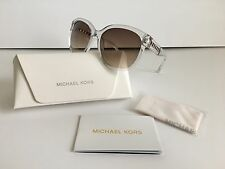 NWT MICHAEL KORS SUNGLASSES NATALIE M2886S 971 CLEAR + GOLD FRAME w/ACCESSORIES