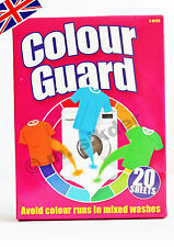 20X2 SHEETS COLOUR GUARD CATCHER AVOID COLO RUNS WASHING MACHINE CLOTHES LAUNDRY