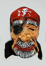 New Adult Latex Scary Pirate Mask Dress Prank Fancy Halloween Costume UK Seller