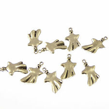 Wholesale x 10 Ghost spooky silver metal 2.5cm charms fun Halloween ghoul