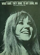 MELANIE SHEET MUSIC, 1970 - WHAT HAVE THEY DONE TO MY SONG (MELANIE ANNE SAFKA