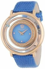Versace Women's VFH070013 Venus Rose Gold Ion Plated Blue Topaz DIAMOND Watch