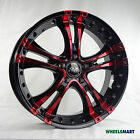 "OX962 18x8"" 5x114.3 35P Black Red Polish Alloy Wheel Rim for some Ford Honda Kia"