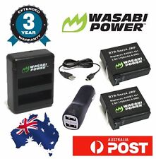Wasabi Power Battery for GoPro HERO4 with 2x 1160mAh batteries Dual USB Adaptor