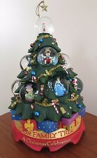 Very Rare DISNEY Characters  Revolving Musical CHRISTMAS TREE 12 Snowglobes +Box