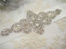Vintage Rhinestone Bridal Belt Sash Crystal Wedding Accessory Any Colour Ribbon