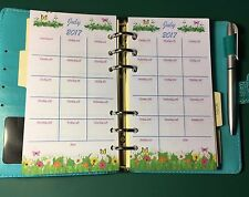 Filofax Personal Planner 2017 Diary Jan - Dec Monthly Calendar - Flower Border