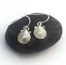 sterling silver Sea Shell eardrops earrings