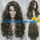 Ladies Fashion wig Charm Women's Long Mix Brown Curly Natural Hair wigs