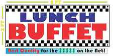 LUNCH BUFFET All Weather Banner Sign Full Color ALL YOU CAN EAT Resturant