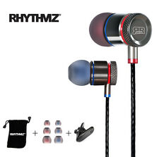 RHYTHMZ ® HD9 - Earphones Headphones In ear Iphone Samsung Apple ( Titanium )