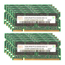 Tested Hynix 10pcs 2GB 2Rx8 PC2-5300S DDR2 667Mhz for SO-DIMM RAM Laptop memory