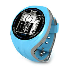 NEW Pyle PSGF605BL Unisex GPS Smart Golf Watch Course Recognition Green Locator