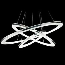 Modern 3 tier LED Crystal Ring Chandelier Pendant Lamp Ceiling Lighting Light