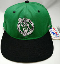BOSTON CELTICS hat cap snap black green VTG AJD adjustable NBA basketball