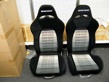 NEW BRIDE ERGO II STYLE ADJUSTABLE SPORT SEAT BLACK GRADATION CIVIC MAZDA TOYOTA