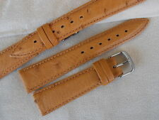 Cinturino STRUZZO ColaReb miele 20mm ostrich honey color watch strap bracelet