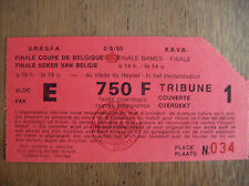 TICKET FINALE COUPE DE BELGIQUE 1985 2/6/85