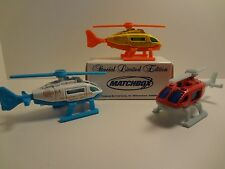 Helicopter Happy 50th Birthday 2006 Matchbox Promotional Limited Edition Lot of3