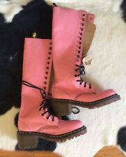 NEW DR. MARTENS  WELLINGTON 14 EYLET TALL SHOWER WELLIES PINK SIZE 37-38 US UK 5
