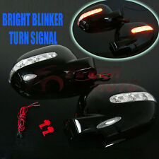 For MERCEDES W163 ML320 ML430 97-01 Side Mirror Covers LED Turn Signal Black FM