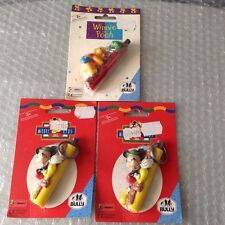 Vintage#3X Mickey For Kids & Winnie Pooh Official Light Keychain#Noc BULLY