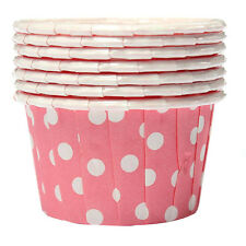 100X Cupcake Wrapper Paper Cake Case Baking Cups Liner Muffin Pink